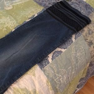 Ann Taylor Pants - 14. Ankle-length jeans with black detailing.